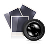 Vector clipart: Lens with photo frame