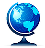 Vector clipart: terrestrial globe on white
