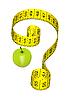 Vector clipart: Apple on diet