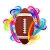 Vector clipart: American football ball