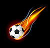 Vector clipart: Soccer Ball in Fire