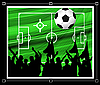 Vector clipart: soccer background
