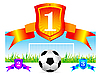 Vector clipart: soccer shield background