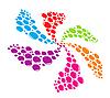 Vector clipart: Multicolored splash