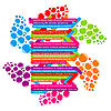 Vector clipart: Template text with juice color drop