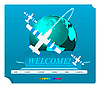 Vector clipart: Web site template,