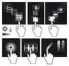 Векторный клипарт: Жест сенсорный экран, интерфейс