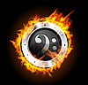 Vector clipart: Loudspeaker on Fire