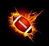 Vector clipart: American football in fire