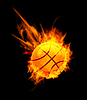 Vector clipart: Basketball Ball in Fire