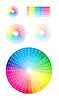 Vector clipart: Color wheel