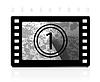 Grunge film countdown | Stock Vector Graphics