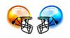 Vector clipart: Football Helmets