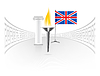 Vector clipart: England flag with torch