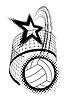 Vector clipart: volleyball sport design element