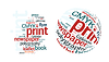 Vector clipart: Printing Word Cloud