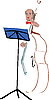Vector clipart: people from the orchestra cello