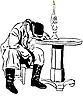man sleeping on table