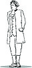 Vector clipart: man in an old suit