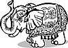 Vector clipart: statue of an elephant with ornament