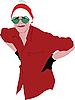Vector clipart: Santa's helper