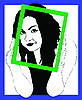 Vector clipart: girl in frame