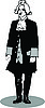Vector clipart: Man in retro suit