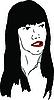 Vector clipart: black-haired girl