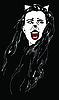 Vector clipart: Catwoman vampire