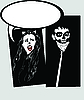 Vector clipart: Catwoman and terrible person