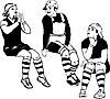 Vector clipart: of boys in spats