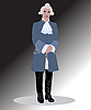 Vector clipart: officer in wig
