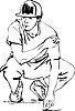 Векторный клипарт: Парень танцует брейк-данс