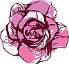 Vector clipart: pink tea rose