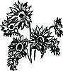 Vector clipart: Sunflowers