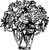 Vector clipart: Roses in Vase