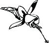 Vector clipart: flower bud