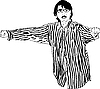 Vector clipart: guy with glasses in striped shirt