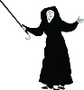 Vector clipart: old woman with crutch