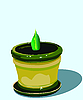 Vector clipart: sprout in flowerpot