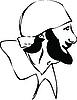 Vector clipart: man with beard