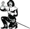 Vector clipart: musketeer