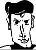 Vector clipart: face men