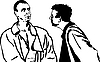 Vector clipart: Two men talking