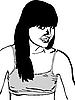 Vector clipart: girl-shirt