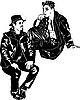 Vector clipart: men talking