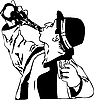 Vector clipart: drinking man with bottle