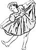 Vector clipart: Girl dancing in garlands