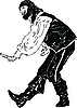 Vector clipart: actor Men tend to bow