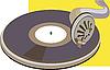 alten Vinyl-Platte am Phonographen
